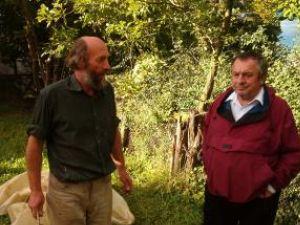 Sculptorii Mircea Dăneasă şi Ion Mândrescu