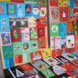 Felicitările, realizate manual de copii, i-au impresionat pe vizitatori prin originalitate şi diversitate