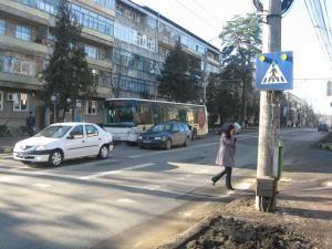 Una dintre cele mai periculoase treceri de pietoni din Suceava