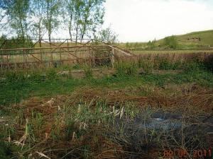 Sera care a fost distrusă în timpul lucrărilor de regularizare a pârâului Ruda din Dorneşti