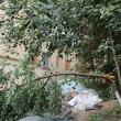 Morman de moloz de la renovarea apartamentelor, abandonat pe un spaţiu verde de pe strada Mărăşeşti