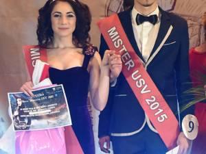 Cătălina Tătăruşanu şi Roberto Moldovan - Miss si Mister Boboc 2015. Foto: Artistul