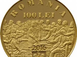 Monedă din aur dedicată împlinirii a 200 de ani de la naşterea lui C. A. Rosetti – avers