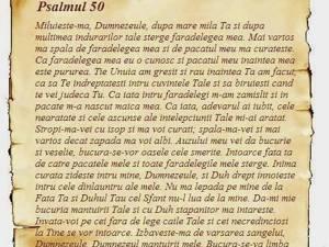 De ce a scris David Psalmul 50?