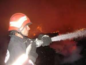 Incendiu puternic la un gater din comuna Moldoviţa