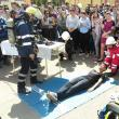 """Exerciţiu de evacuare în caz de cutremur urmat de incendiu la Colegiul """"Alexandru cel Bun"""""""