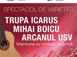 Trupa Icarus, Arcanul USV şi Mihai Boicu, în concert pe scena USV