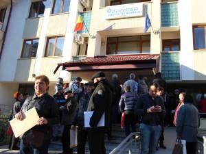 Protest spontan la APM Suceava