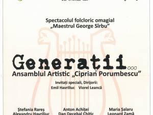 """""""Generații"""", în spectacolul folcloric omagial """"Maestrul George Sîrbu"""""""