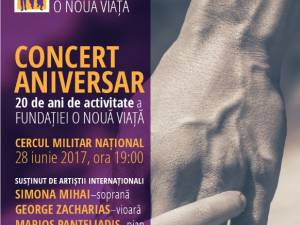 """Fundația """"O Nouă Viață"""", concert aniversar la Cercul Militar Național București"""