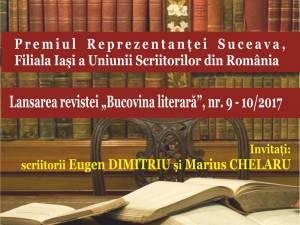 Eugen Dimitriu, premiat de Reprezentanța Suceava a Filialei Iași a USR, la Biblioteca Bucovinei