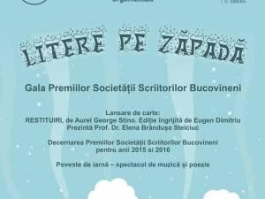 Gala Premiilor Societății Scriitorilor Bucovineni, joi, la Biblioteca Bucovinei