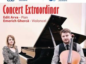 """Recital de pian și violoncel, pe scena Auditoriumului """"Joseph Schmidt"""""""
