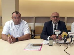 Bioinginerul Dragoș Vicoveanu, managerul Vasile Rîmbu și purtătorul de cuvânt, dr. Mihai Ardeleanu