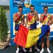 Cosmin Pascari (al doilea) de la CSM Suceava a câştigat aurul european de tineret în proba de 4 rame