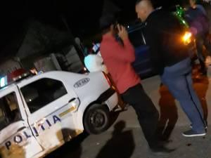 Mașină de poliție, implicată într-un accident în comuna Satu Mare
