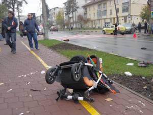 Trecerea de pietoni pe care a avut loc accidentul