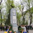 Coroane de flori depuse în memoria veteranilor de război