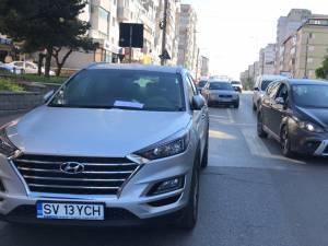 Mașina care a blocat bulevardul