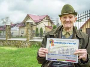 Eroi comemorați la Straja, în prezența unuia din ei – George Cotos, în vârstă de 100 de ani