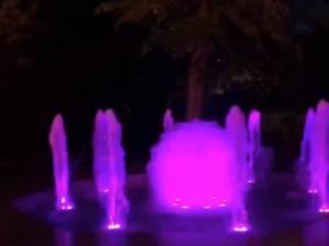 Fântânile arteziene din Parcul Central, reparate și modernizate, date în folosință de marți seara