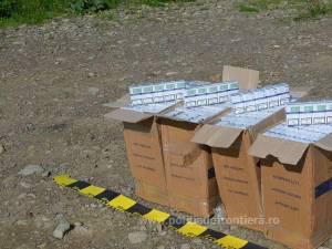 Aproape 10.000 de pachete de țigări de contrabandă, confiscate în doar cinci minute