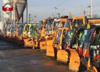 Zeci de utilaje şi echipe de intervenţie pregătite să acţioneze la deszăpezire pe străzile Sucevei