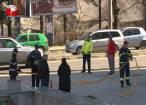 Circulaţia rutieră şi pietonală, restricţionată parţial ieri la amiază în centrul Sucevei