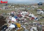 Un întreg deal din Şcheia, transformat în groapă de gunoi clandestină